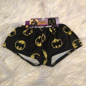 Batgirl elastic waistband boy shorts